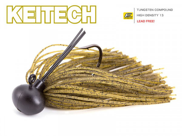Keitech Rubber Jig Model II - Green Pumpkin PP