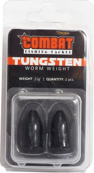 Tungsten Bullet Worm Weight black