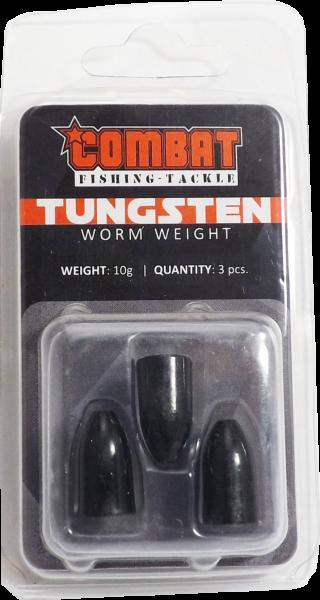 Tungsten Bullet Worm Weight black